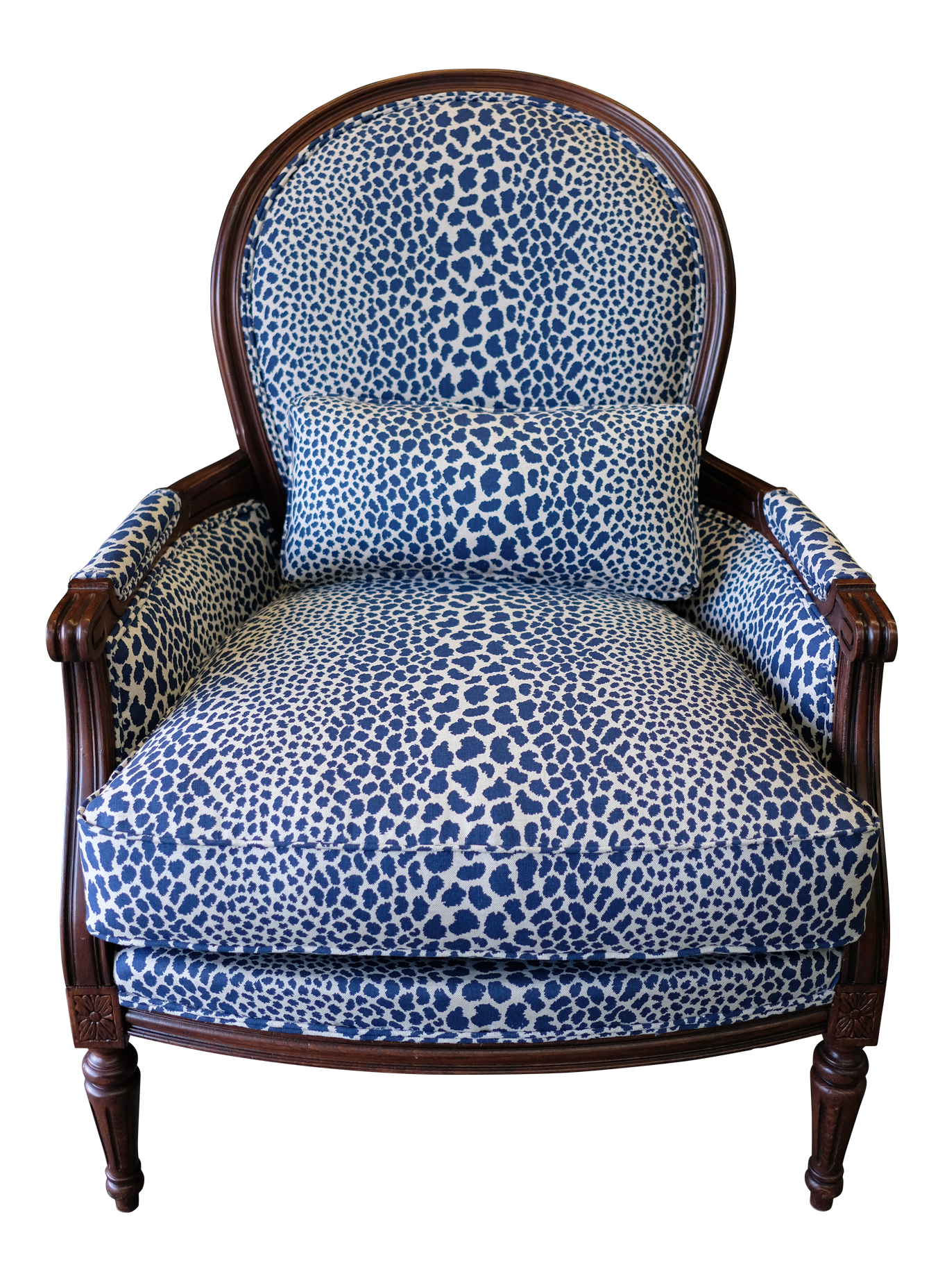 CHAIR_BLUE LEOPARD